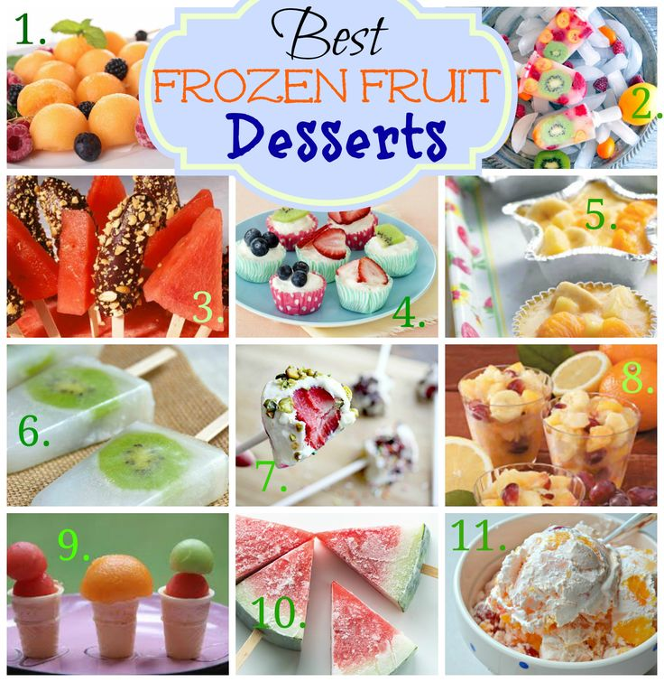 best frozen fruit desserts for summer