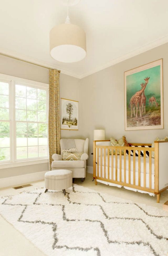Gender Neutral Nursery - Boy or Girl so beautiful in the soft warm colors and such a clean easy to maintain room for your little one