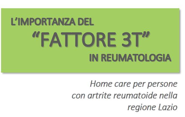 """L'IMPORTANZA DEL """"FATTORE 3T"""" IN REUMATOLOGIA"""