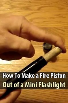 You can purchase a fire piston online, but if you like DIY projects, you can make your own. This video explains how to make one from a mini flashlight.
