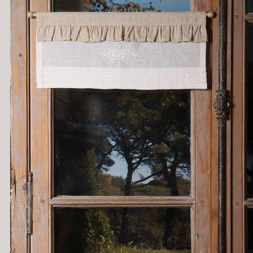 Cantonnières : Cantonnière Andréa - Escapades Champêtres linge de maison décoration