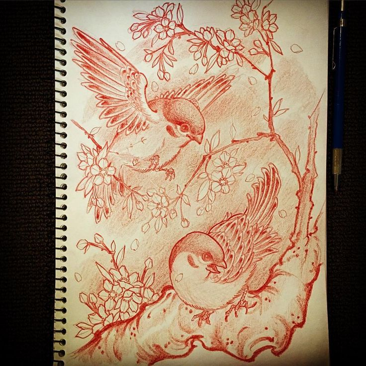 24022016 *taking drawing requests* leave a comment #draweveryday #sparrow #雀 #cherryblossom #桜  #rough #sketch #drawing #design #pencil #tattoo #tattoos #irezumi #刺青 #wabori #和彫 #prahran #melbourne #melbournetattoo #australia #strictlytattoogallery #vancouver #canada #horiryutattoofamily #japan #japanese #japaneseart #japanesetattoo #japanesetattooist