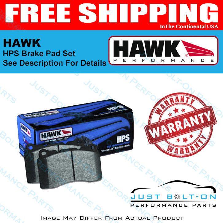Hawk Hps Brake Pad Sets Performance Vehicle Fitment See Description Hb504f 740 Ebay Brake Pads Performance Parts Performance
