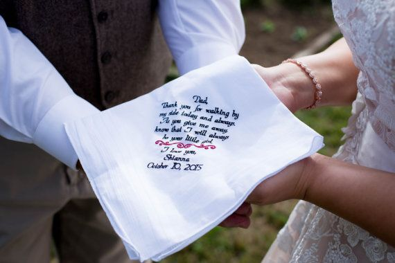 Gift for Dad Wedding Gift for Father of the by CanyonEmbroidery
