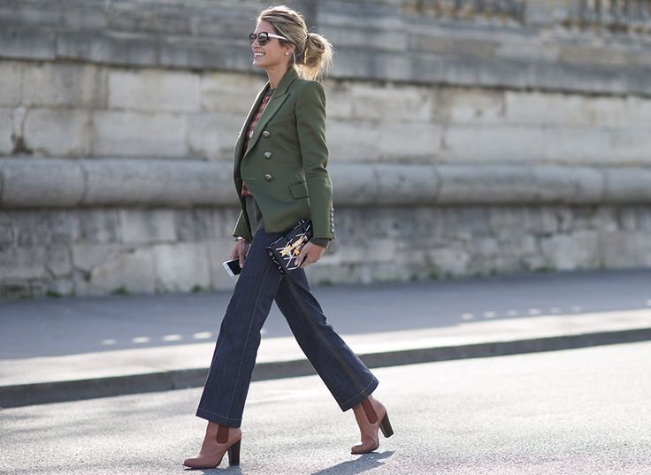 Think you can't wear cropped trousers with booties? Turns out the combo makes for a supremely polished look when paired with tailored separates.