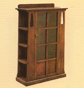 Mission oak bookcase with sideshelves arts and crafts for Craftsman style bookcase plans