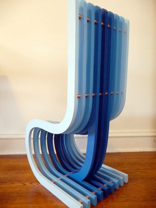 Customize to Any Color you WANT  Surface Grooves Profile Chair