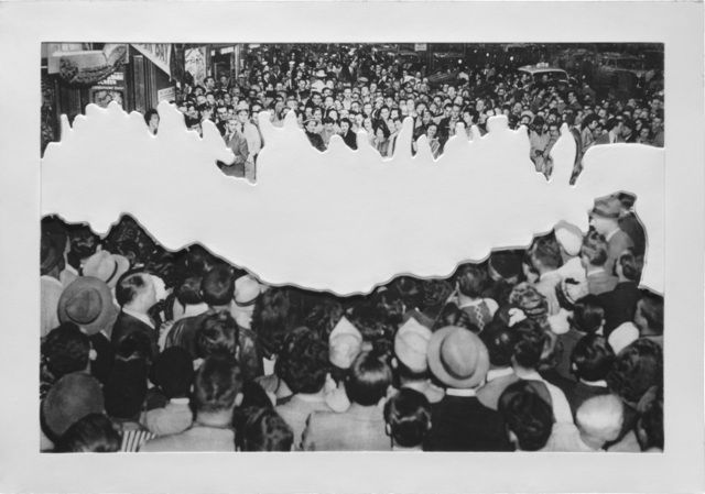 John Baldessari   Crowds with Shape of Reason Missing Example 2 (2012), Available for Sale   Artsy