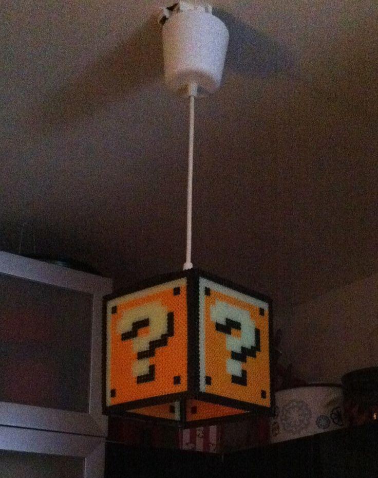 Super Mario lamp hama beads