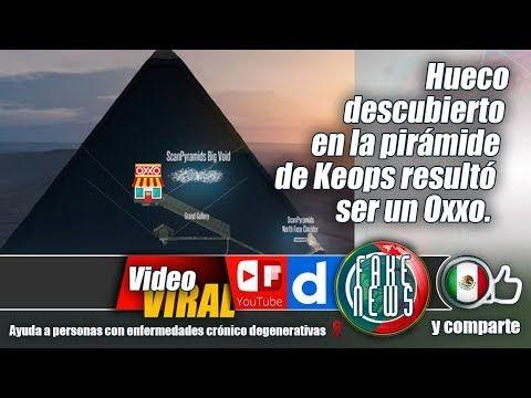Hueco descubierto en la pirámide de Keops resultó ser un Oxxo.