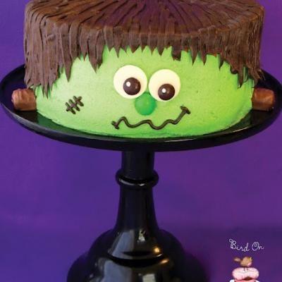 Frankenstien Cake {Tutorial} #halloween