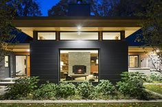 "Bryan Anderson of SALA Architects designed this new home with popular features such as expanses of glass and low-maintenance durable fiber cement siding. Anderson, Michael Roehr, Gar Hargens and Beth Reader are on the architects panel for the ""The Value of Great Design'' AIA Minnesota event April 19."