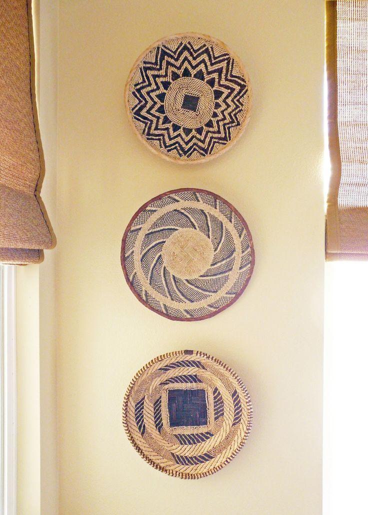 African Basket Wall Decor