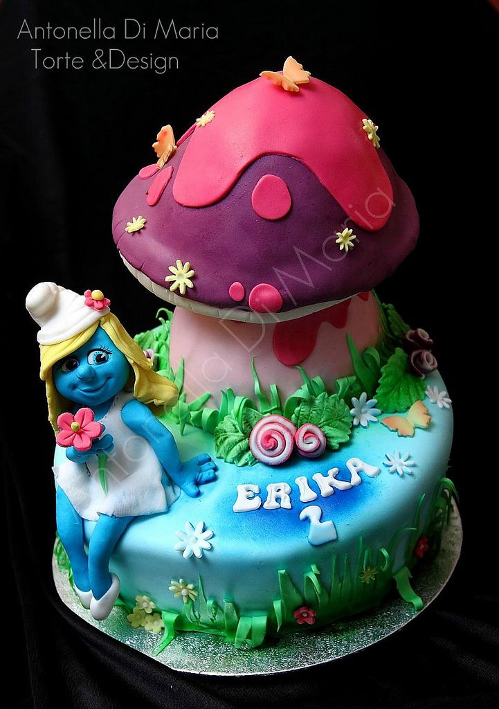 Cake Arts Jeddah : 17 Best images about Smurf Cakes on Pinterest Birthdays ...