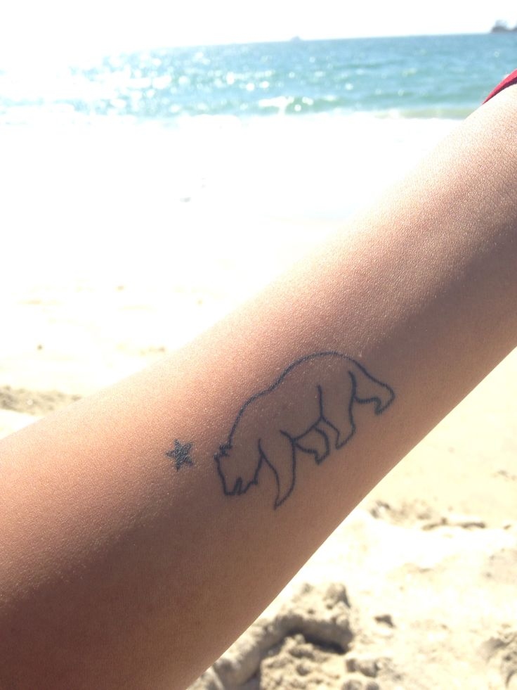 California bear ❤️ tattoo love❤️❤️  forearm ❤️❤️