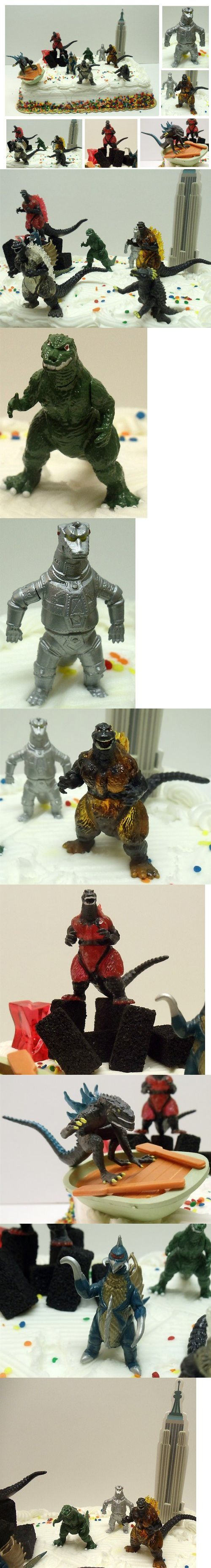 I'm pretty sure these are the Godzilla toys I've already bought!  17 Piece Godzilla Birthday Cake Topper Set Featuring Various Themed Godzilla Figures and Structures Including Anguirus, Fire Burning Godzilla Standing on Rubble Pile, Zilla New York Godzilla on Boat, Clear Fire Burning Godzilla, Mechagodzilla, Gashapon Godzilla, Gigan Godzilla, and Decorative Skyscraper - Cake Supplies - Toys - $29.99
