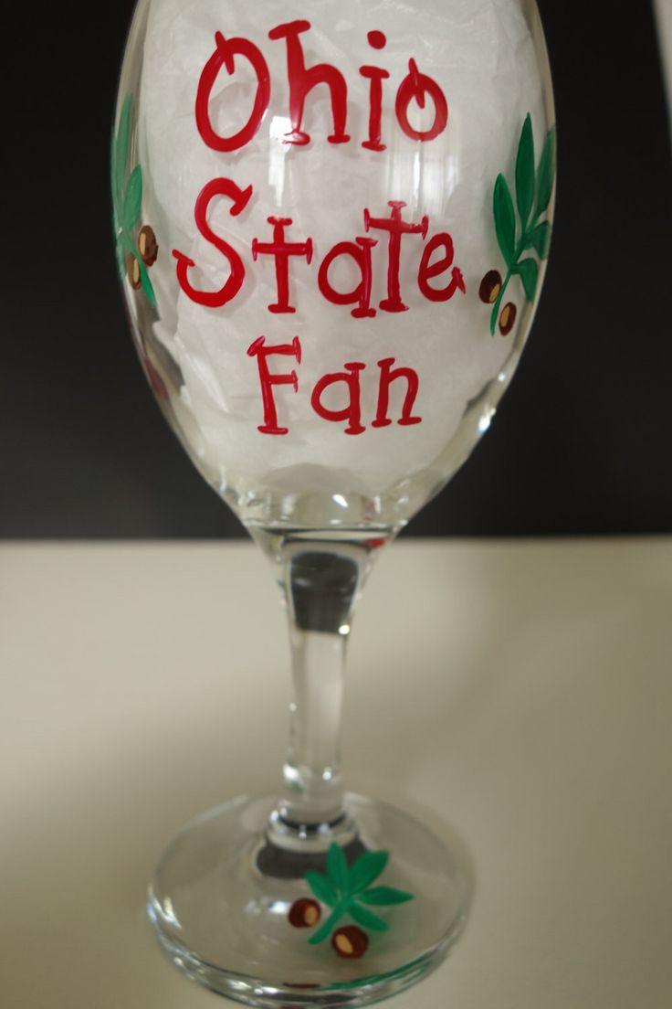 A personal favorite from my Etsy shop https://www.etsy.com/listing/228287946/ohio-state-wine-glass-buckeye-fan-ohio