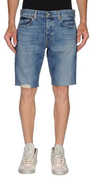 $66, Blue Denim Shorts: Denim