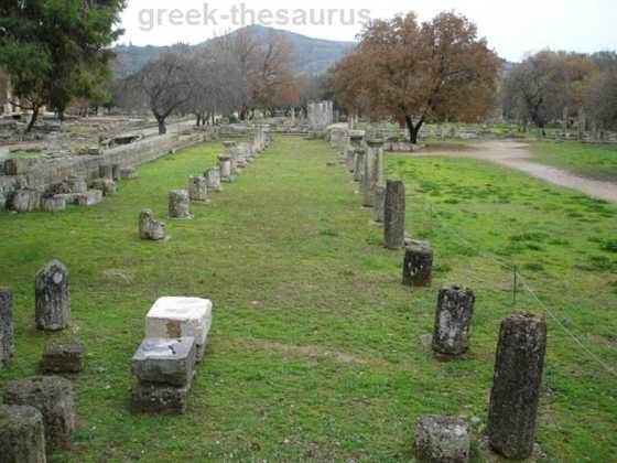 The gymnasium at Olympia. It was used by athletes to exercise and prepare for the Olympic games. Photo:http://www.greek-thesaurus.gr/Ancient-Olympia-Gymnasion.html