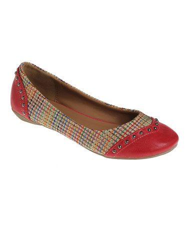 Look what I found on #zulily! Red Weave Flat #zulilyfinds