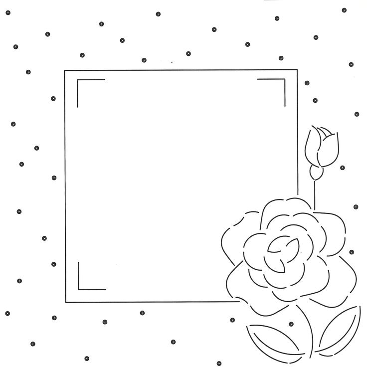 hobbydots patroon met roos