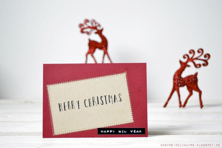 Chèvre culinaire: DIY Christmas Cards // Weihnachtskarten