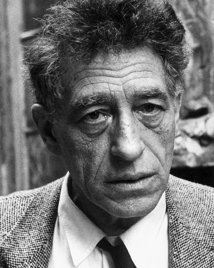 "Alberto Giacometti in 1965  ""Artistically I am still a child with a whole life  ahead of me to discover and create. I want something, but I won't know  what it is until I succeed in doing it. ""     Alberto Giacometti"