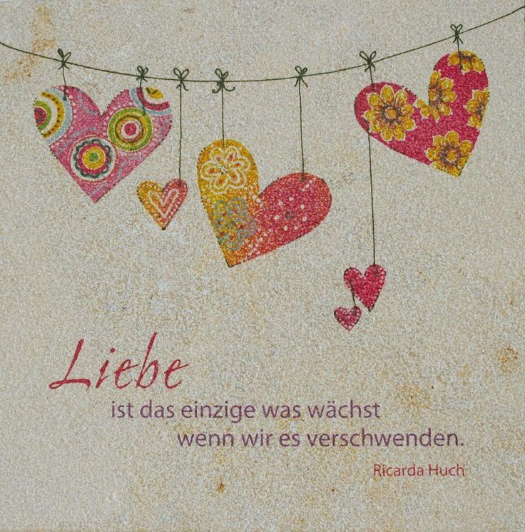 Wandrelief Liebe wächst Ricarda Huch 17 x 17 cm Jura 72650