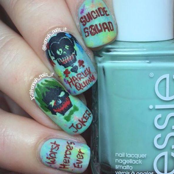21 Suicide Squad Nails at CherryCherryBeauty.com