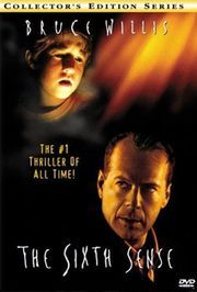 The Sixth Sense. Cole, a young boy who sees spirits and is afraid of what he is seeing. Dr. Crowe tries to help him cope with the sense and bonds with Cole. Eventually they find out what he is really doing with Cole in an unexpected twist.