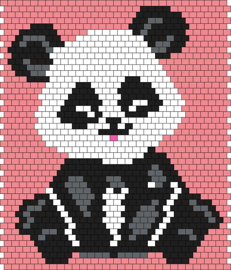 Little Panda (30 X 46 Peyote/Brick Stitch Pattern)