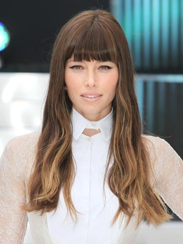 Rich, chocolate brown hair with golden strands woven in toward the ends.    Read more: Hair Color - Hot New Hair Colors For Fall And Winter 2012 - Cosmopolitan