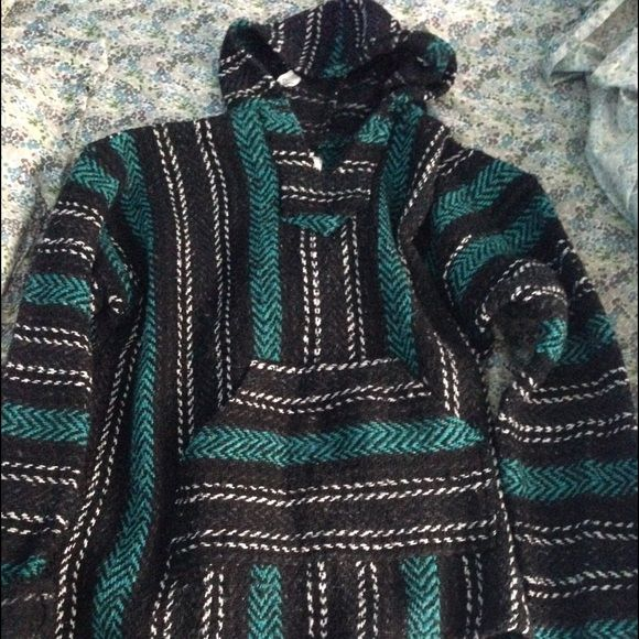 Black And Green Drug Rug Stoner Sweater Hippie Style
