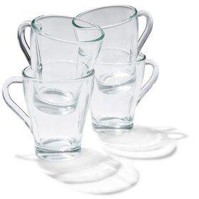 4 Pack Glass Mugs