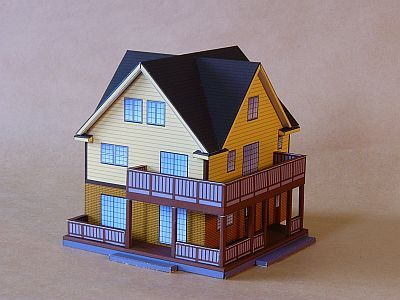 how to make a model house out of cardboard paper