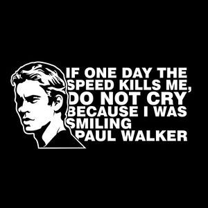 Details About Paul Walker Memorial Car Sticker Vinyl Decal
