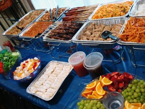 Buffet Food Layout