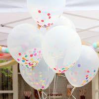 palloncini ripieni di coriandoli