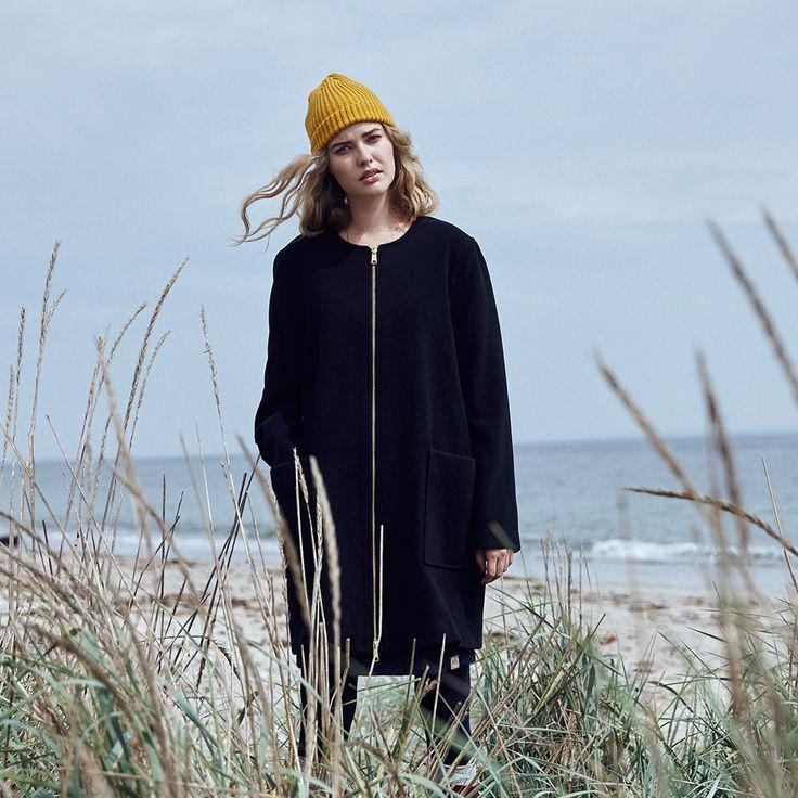 Danefae uldjakke frakke wool darling navy blaa
