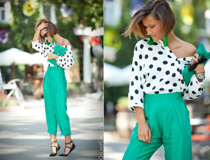 polka dots blouse Asos by GalantGirl.com