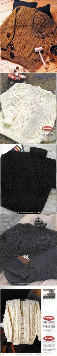 Мужские вязаные модели-свитеры,джемперы .