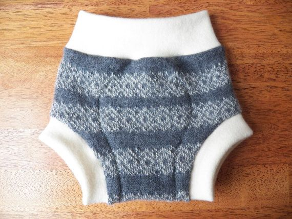 Upcycled Wool Diaper Cover MEDIUM 4-9 Months by ...