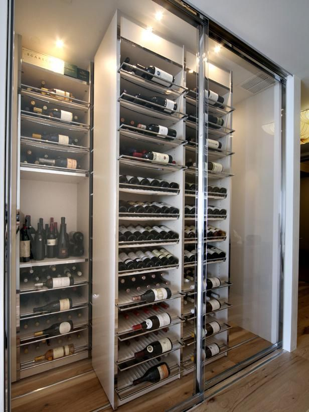 Condo With Altitude in San Francisco  The high-tech wine cellar is fully temperature controlled and holds 750 bottles of wine and champagne. The total cost of the wine storage space was around $90,000.
