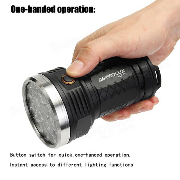 Astrolux MF01 18x XP-G3/Nichia 219C 12000LM Super Bright LED Flash Lightt 18650 Sale - Banggood.com