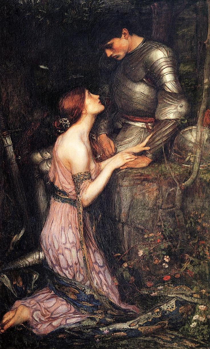 Lamia, John William Waterhouse.  Nobody else could paint a knight so handsome as Waterhouse did.