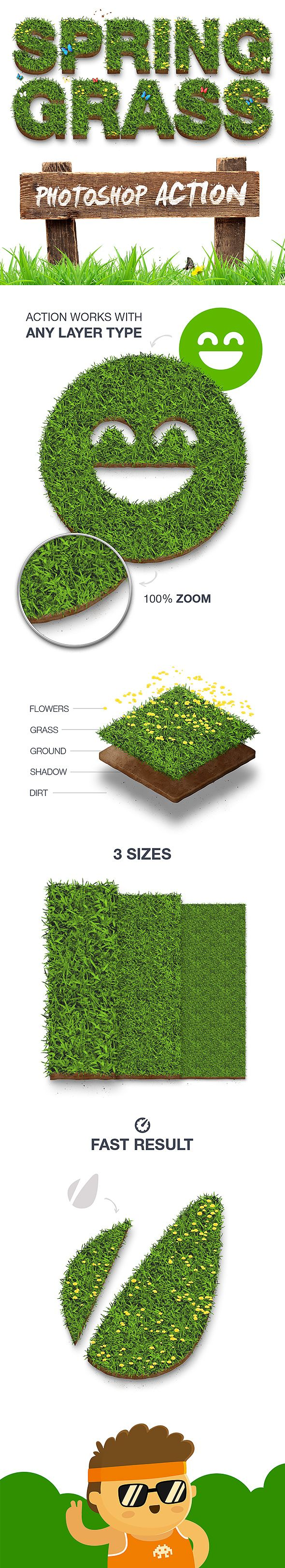 Spring Grass - #Photoshop Action - #Actions #Photoshop Download here: https://graphicriver.net/item/spring-grass-photoshop-action/19554719?ref=alena994
