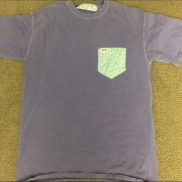 Fraternity Collection pocket tee Fraternity collection pocket tee in purple with blue pocket! Size medium Fraternity Collection Tops Tees - Short Sleeve