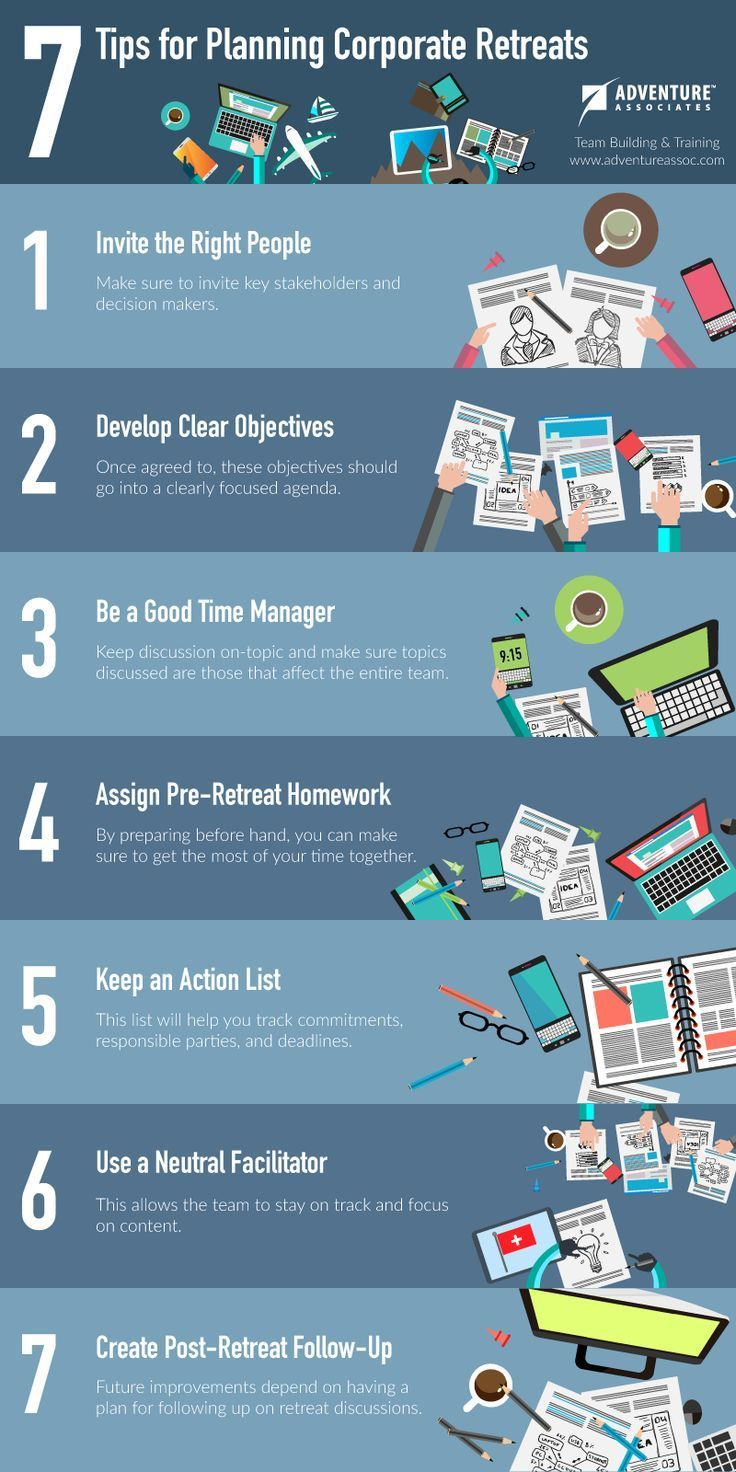 7 Tips for Planning Corporate Retreats (Infographic