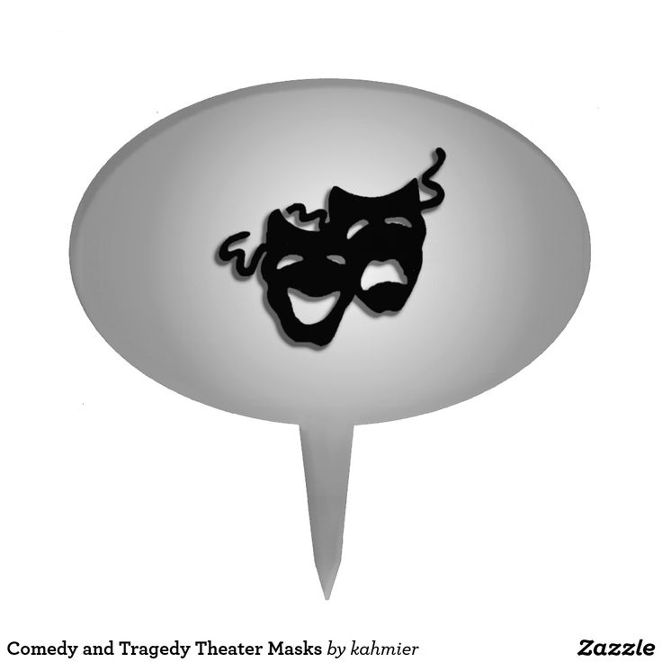 sold Comedy and Tragedy Theater Masks Cake Topper