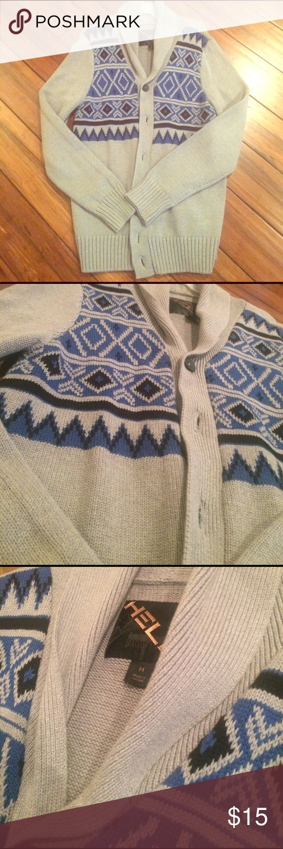 NWOT Men's Cardigan Sweater New without tags men's cardigan sweater.          Brand: Helix.    Size: Medium    Very cool! Sweaters Cardigan